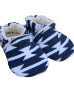 Navy Tomahawk Baby Slippers