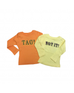 Tag/Not It Bodysuit or Long Sleeve Tee Sets