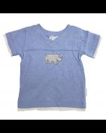 Rhino V-Neck Tee, Blue