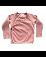 Organic Pima Cotton Kimono Wrap Top, Dark Pink