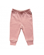 Organic Pima Cotton Leggings, Dark Pink