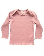 Organic Pima Cotton Long Sleeve Tee, Dark Pink