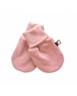 Organic Pima Cotton Baby Mittens, Dark Pink