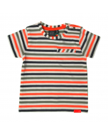 Multi Colored Striped Short Sleeve T-Shirt