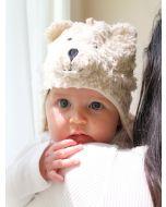 Faux Fur Sherpa Bear Ear Flap Hat by Under the Nile