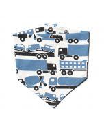 Kerchief Bib, Big Rigs Blue