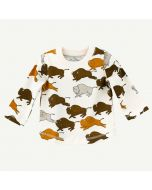 Buffalo Print Long Sleeve Tee