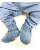 Organic Pima Cotton Booties, Citadel Blue