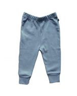 Organic Pima Cotton Leggings, Citadel Blue