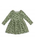 Madison Dress, Sage Dino