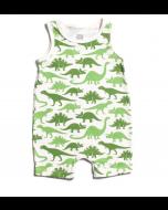 Tank Romper, Green Dino