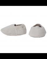 Ecru Newborn Booties by Tane