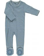 Blue Stripe Zip Footie