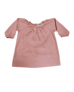Pleated Blouse, Putty