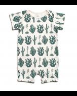 Summer Romper, Green Cactus
