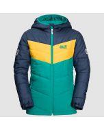 Three Hills Windproof Winter Jacket-Green Ocean