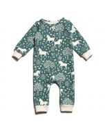 French Terry Jumpsuit, Magical Forest Teal