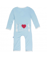 KicKee Pants I Love Dad Pond Coverall