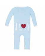 KicKee Pants I Love Mom Pond Coverall