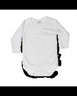 Organic Pima Cotton Long Sleeve Kimono Bodysuit, Indigo Dot