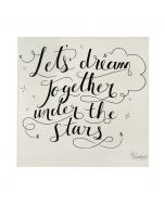 """Let's Dream Together"" Organic Swaddle"