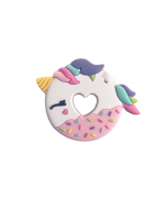 Pink Unicorn Donut Silicone Teether