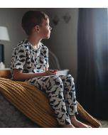 Navy Deep Sea Short Sleeve Pajama Set