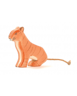 Wooden Tiger Sitting