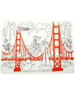 Fun on the Golden Gate Bridge Silicone Placemat