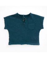 Organic Cotton Jersey T-Shirt with Pocket, Deep