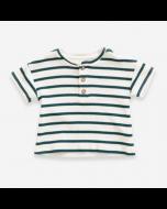Organic Cotton Striped Ribbed T-Shirt