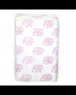 Raspberry Elephant Crib Skirt
