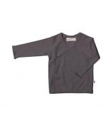 Organic Pima Cotton Kimono Wrap Top, Charcoal