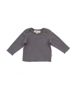 Organic Pima Cotton Long Sleeve Tee, Charcoal