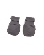 Organic Pima Cotton Baby Mittens, Charcoal