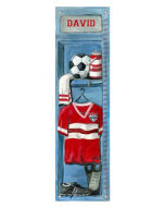 Personalized Soccer Locker Growth Chart