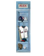 Personalized Baseball Locker Growth Chart