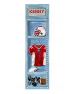 Personalized Football Locker Growth Chart