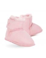 Sheepskin Baby Booties, Pink