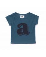 Alphabet Shirt, Blue
