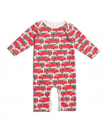 Fire Truck Long Sleeved Romper