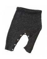 Coal Wool Rounded Pants by Tane