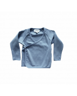 Organic Pima Cotton Kimono Wrap Top, Citadel Blue