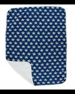 KicKee Pants Vintage Star Quilted Stroller Blanket