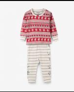 Fair Isle Deer Pajama Set