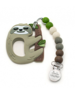 Sloth Silicone Teether with Holder