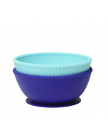 Silicone Suction Bowls, Two Pack Blue