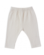 Ecru Pointelle Pull On Pants by Tane