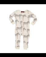 Zebra Organic Cotton Zipper Pajamas