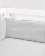 Organic Pima Cotton Crib Sheet, Indigo Dots
